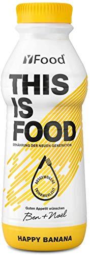 YFood Banane | Laktose und glutenfreier Nahrungsersatz | 34g Protein, 26 Vitamine und Mineralstoffe | Leckere Astronautennahrung - 25{9fd7a7f593d562c29fded781840af0d01de32ffea8218c743d3b459cdabaab49} des Kalorienbedarfs | Trinkmahlzeit, 12 x 500 ml (1 kcal/ml)
