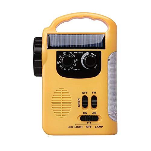 Huante Radio portátil, linterna LED de ultra alto brillo de emergencia solar con antena telescópica de larga duración Am/fm para recibir cualquier noticia y otras advertencias de peligro
