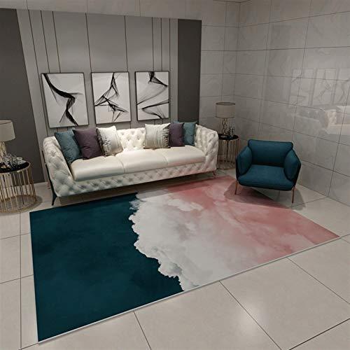 MEIDEL Calidad Alfombra Lana 80x140cm Felpa Antideslizante lujosas alfombras Estilo Vintage Adecuado salón Dormitorio baño Silla cojín, SV-JQ167
