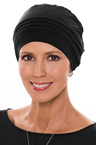 Couture Cap-Caps for Women with Chemo Cancer Hair Loss Luxury Bamboo - Black