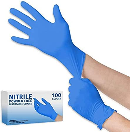 100, Medium Lumistick Nitrile Blue Hand Cover