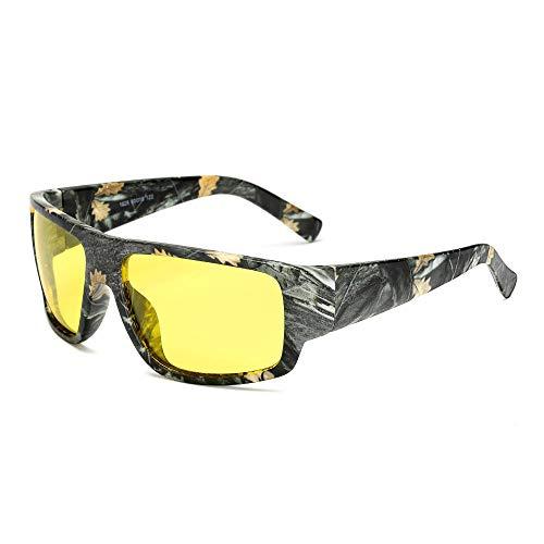 FJCY Gafas de Sol polarizadas Gafas de Sol paraHombre Gafas de Sol Retro de Camuflaje Deportivo Hombres Mujeres-6-Kp1028-C5