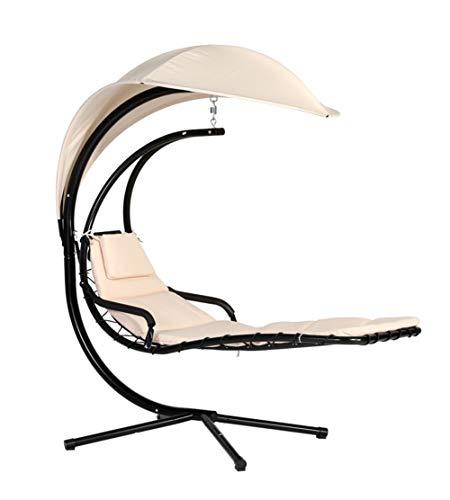 Secret night Reclining Jardin Hamac Pliant Métal Terrasse Balançoire Lit Chaise avec Support Hamac Balancelle Chaise De Détente Bain De Soleil