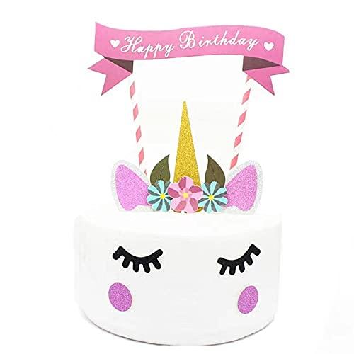 Tandpetare flaggor, ostmarkörer enhörning cupcake toppers cupcake dekoration för barn födelsedag bröllop baby duschar bröllop festtillbehör dekor förmåner