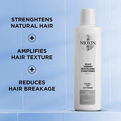 Nioxin System 2 Scalp Therapy Conditioner for Fine/Natural Hair with Progressed Thinning, 10.1 oz