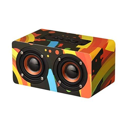 PLTJ-Pbs HiFi Bluetooth Speaker Drahtlose Tragbare Audio-Subwoofer-Lautsprecher Desktop-Audio-Lautsprecher Wood Handsfree TF Card Partybüro