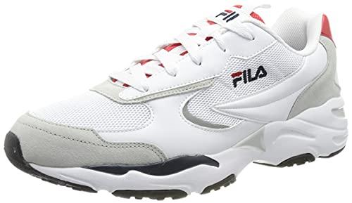FILA Herren Mastermind 2.0 CB Men Sneaker, White Red, 44 EU