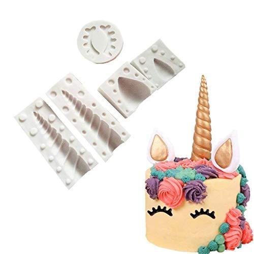 Tumao DIY Tarte Anniversaire Tarte Moule à gâteau Moule en Silicone Moule de gâteau de Licorne, Cake Design, décoration Gateau-Résistant à la Chaleur