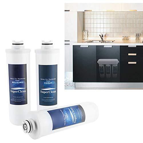 Sistema de filtro de agua de 3 etapas, sistema de ósmosis inversa, núcleo de filtro de algodón PP membrana de ultrafiltración de fibra hueca, núcleo de filtro de carbón activado granular EU