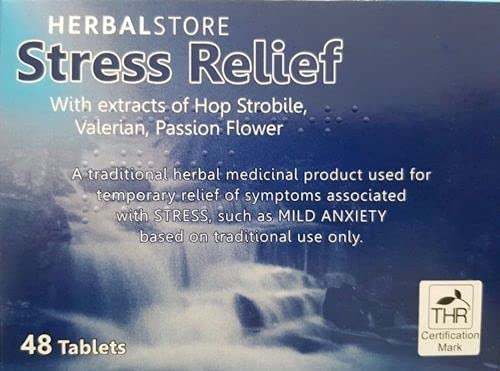 96 Stress Aid & Relief Tablets Mild Anxiety Low M