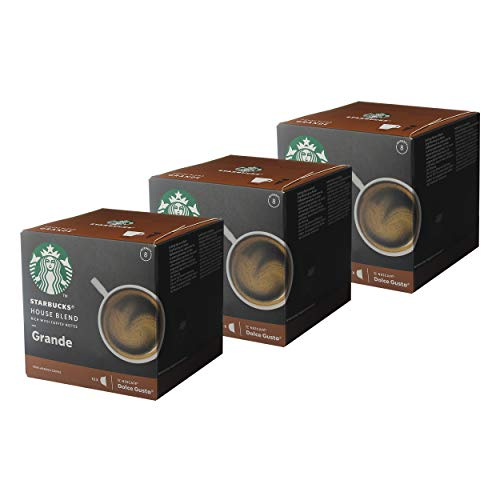 Nescafé Dolce Gusto Starbucks House Blend Grande 3er Set, Kaffee, Röstkaffee, Kaffeekapseln, 3 x 12 Kapseln