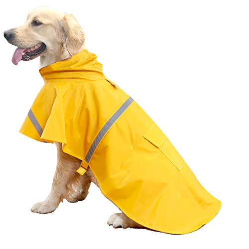 HAPEE Dog Raincoats for Large Dogs with Reflective Strip Hoodie,Rain Poncho...