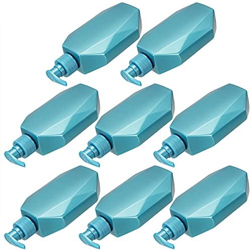 OSALADI 8 Botellas de Loción Vacías 300ML Botellas Dispensadoras de Loción Recargables Botellas de Plástico con Bomba de Champú Contenedor Cosmético de Viaje para Viajes en Casa