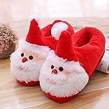 ZRSH Zapatillas de Felpa, Zapatillas Navideñas para Niños Zapatillas Zapatillas de Papá Noel Adultos Y Niños,002,Men's 39/42EU