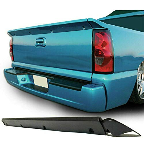 Threemom 3 PCs Tail gate Spoiler Wing Fits 07-14 Chevy SS Silverado Intimidator Tailgate
