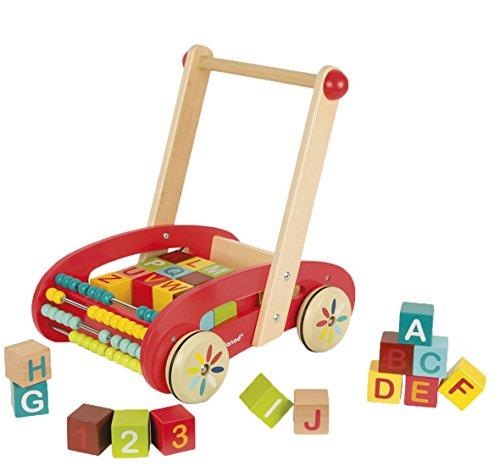 woodienchen Janod – Jouet en bois Bois Boîte à lettres Boîte de pierres d'apprentissage de chambre d'enfant, multicolore