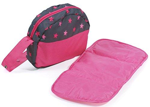 Bayer Chic 2000 853 82 Wickeltasche, Puppen-Zubehör, Sternchen pink