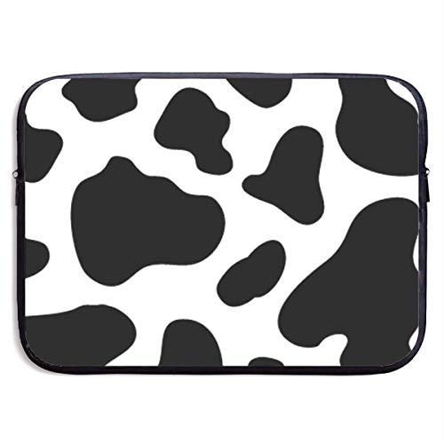 HOODSWOP Cow Spot Print Waterproof Laptop Sleeve, Laptop Sleeve Bag- Stylish Cute Neoprene Notebook Carrying Case Handbag for 13' 15'