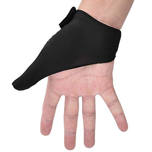 Alomejor Bowlinghandschuhe Bowling Thumb Saver Griffschutzhandschuh für Bowling Ballsportarten(Schwarz)