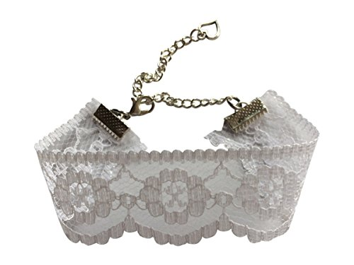 dunns-jewels Cream/Ivory Lace Choker Pagan Gothic Burlesque Style 25mm