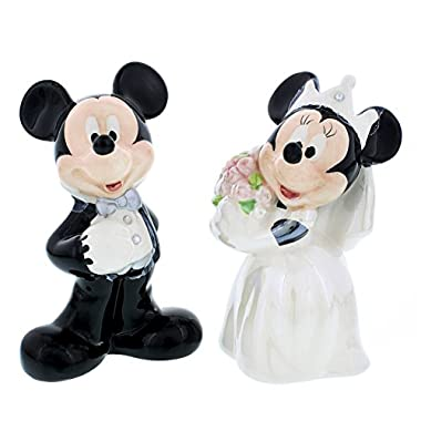 Disney Theme Parks Mickey Minnie Mouse Wedding Salt Pepper 2 Pc. Set