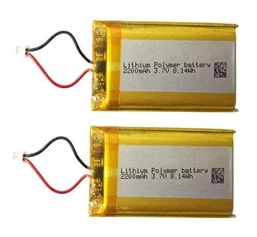 3.7v Lithium Ion Battery 2200mAh for PS4 Controller Battery Replacement w/Small Plug fit for CUH-CZT2 & CUH-ZCT2U -Series PS4 DualShock 4 Pro Wireless Controller (LIP1922-S_2 Pack)