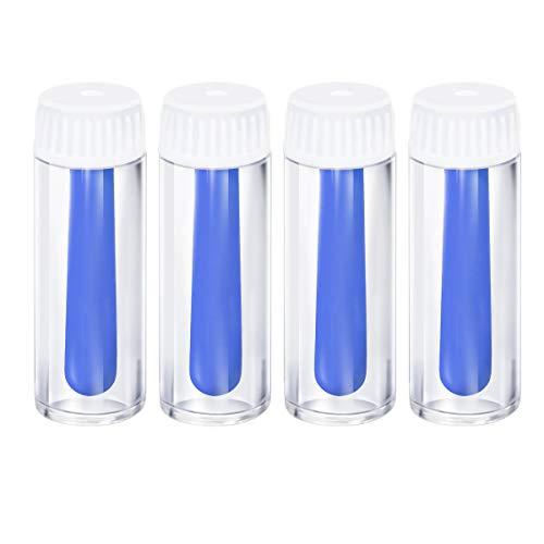 Supvox Kontaktlinsensauger Kontaktlinsen Entfernen und Einsetzen Linsensauger für Harte und Weiche Linsen 4 Stücke (blau)