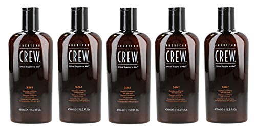 5er American Crew Classic 3 in 1 Shampoo Conditioner Body Wash 450 ml