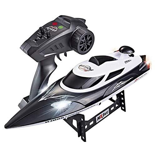 WGFGXQ 35 km/h Hochgeschwindigkeits-RC-Boot für Pools und Seen, ferngesteuertes 2,4-GHz-Boot mit Selbstaufrichtung, Erinnerung an niedrige Batterie, Hobby-Rennen für Pools und