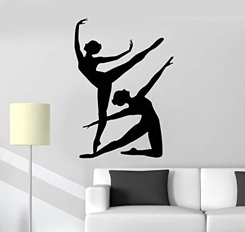 Tianpengyuanshuai balletdanseres meisjes silhouet wandtattoo woonkamer meisjes kamer afneembare decoratieve vinyl wandtattoo dans