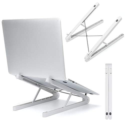 ノートパソコンスタンド pcスタンド SHibelタブレットスタンド 人間工学設計 6段の高さ調節可能 折りたたみ式 姿勢改善 滑り止めシリコン 持ち運びに便利 優れた放熱性 軽量 Macbook Air/Macbook Pro/iPad Pro/Notebooksなど17.5インチまでに対応
