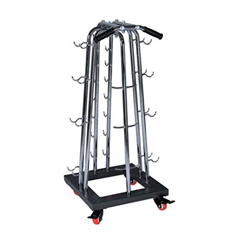 FIT4HOME Dumbbell Rack Fitness Weight Stand Storage Tree For Home Gym Heavy Duty 32 Shelves Roller Wheels | TF-7512