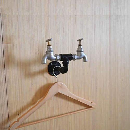 HIMAmonkey Vintage Industrie Dampfbügeleisen Wasser Rohr Tap Wand Robe Haken Hut Rack Halter Kleiderbügel Küche Badezimmer Zubehör