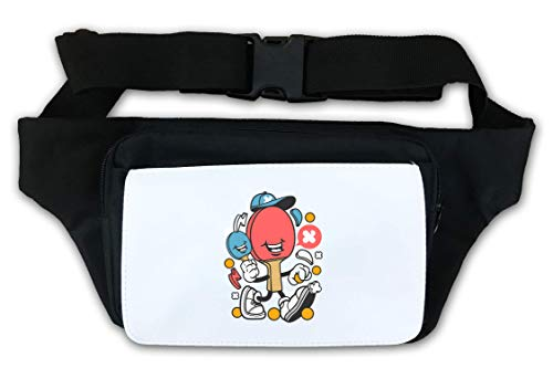 Cartoon Style Ping Pong Paddle Waist Bag