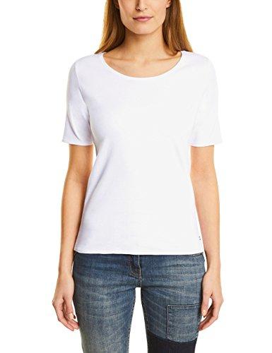 Cecil Damen Lena T-Shirt, Weiß (White 10000), M