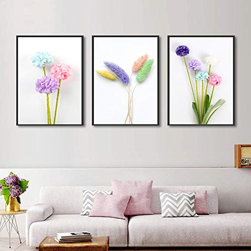 Lunderliny Canvas Printings Fashion Home Decoration Spray Paintings Scandinavian Minimalist Flowers Canvas Posters And Prints Living Room Wall Art Pictures A