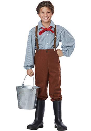 California Costumes Boys Pioneer Boy Child Costume Brown, Large