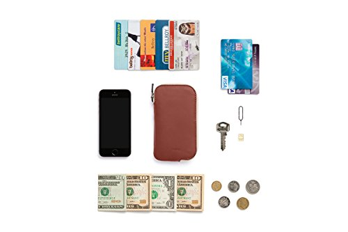 Bellroy Leather Elements Phone Pocket i5 Wallet Cognac