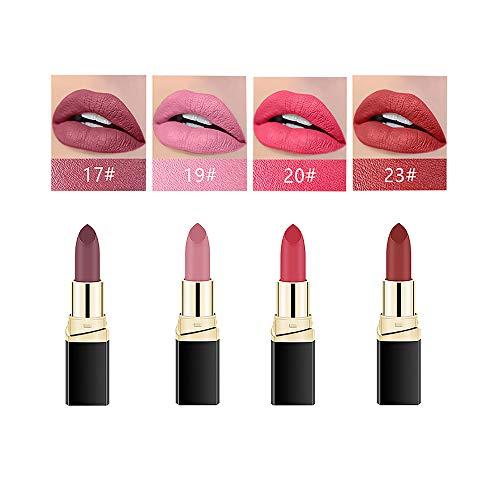 4PCS Matte Lipsticks Set, Waterproof Lipsticks, Moisturizer Smooth Lip Stick, Long Lasting...