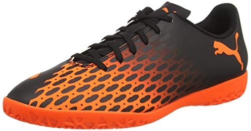 PUMA Herren Spirit III IT Fußballschuh, Black-Shocking Orange, 40 EU