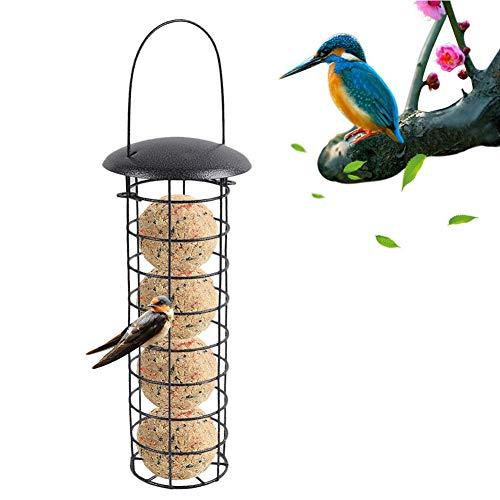 Funnyfeng Vogelvoerhuisje, om op te hangen, vogelvoerstation vetdispenser voor buiten, geschikt voor vogels, mezen, papegaaien