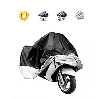 Docooler Motorcycle Bike Moped Scooter Cover Waterproof Rain UV Dust Prevention Dustproof Covering (L)