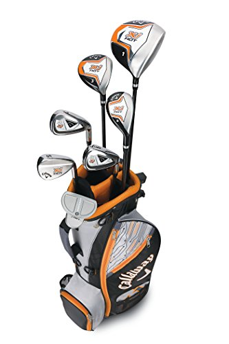 Callaway Boys XJ Hot Junior Kids Golf Club Set, Right Hand, 9-12 Years Old
