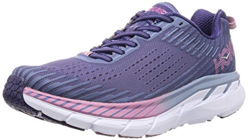 HOKA ONE ONE Clifton 5 Trail Running Shoe - Women's Marlin/Blue Ribbon 6