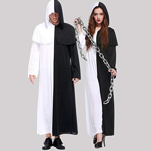 CLOTHING Costume Cosplay di Halloween di Coppia E Nero Costume Cosplay Impermanenza Ghost Bianco Vestito Man