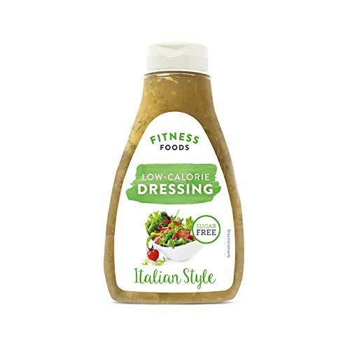 FITNESS FOODS Low Calorie Dressing Italian Style - Salatdressing ohne Zucker - Fettfreies Dressing - Kalorienarmes Salatsauce - Fitness Dressing - 1 x 250 ml
