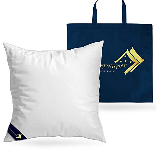 ComfortNight® Dreikammer Daunen- und Federkissen | 80x80 cm | für einen erholsamen Schlaf - ideale Polsterung von Kopf und Nacken - Kissen mit Füllung