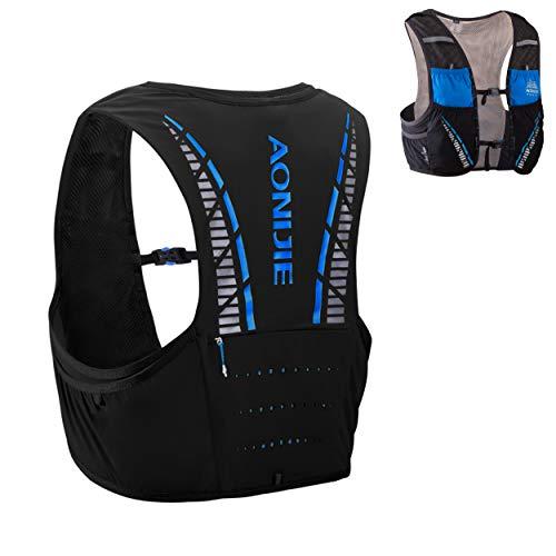 Azarxis Sac à Dos Running 5L Sac Trail Hydratation Gilet Trail Léger pour Homme Femme Marathon Randonnée Escalade Course (Bleu & Noir, L/XL (102-115 cm))