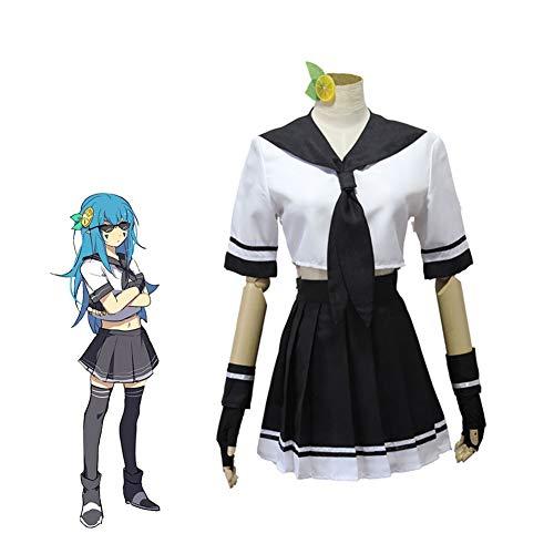 PAOFU-Disfraces de Cosplay de Limón Aotu World Anime para Niña Conjunto de Uniforme Escolar de Disfraces de Carnaval de Halloween