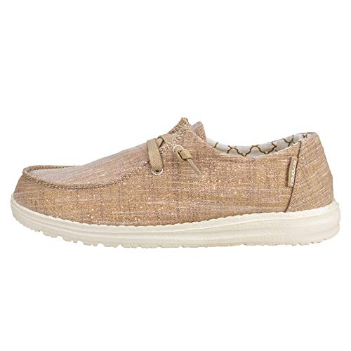 Hey Dude Wendy Sparkling Rose Gold, Size 6